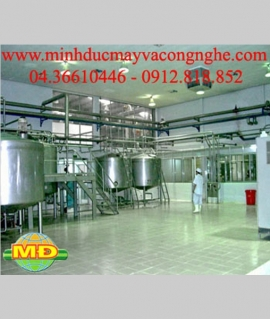 Thiết bị sản xuất sữa đậu nành đóng túi